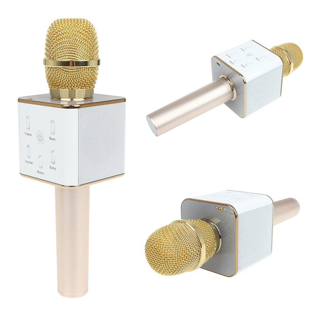 +Retail Box+ Original Mobile Phone KTV Mini Karaoke Player Microphone Handheld Q7/K068 Wireless Mic Gold/Rose/White Gold
