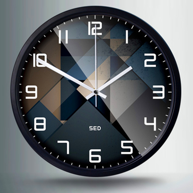 Fashion Atmosphere Business wall clock Geometric patterns office living room decoration Watches and clocks