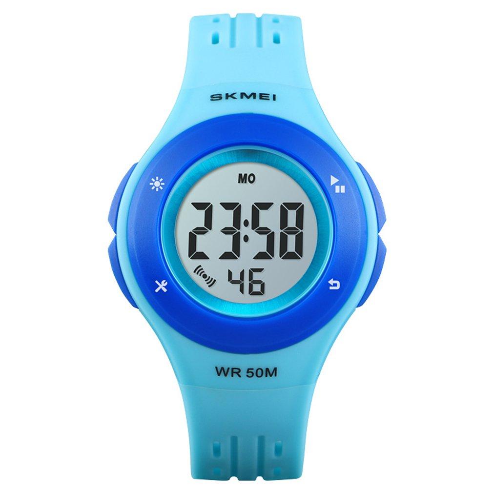 SKMEI 1455 Children Watch Multifunctional LED Digital Wristwatch 50M Waterproof Sports Watch For Boys Girls Alarm Watch
