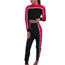 Women's Sports Suits Sexy Tracksuit 2 Piece Set Women Sportswear Jogging Track Suit Women Sport Lounge Sport Set Two Piece Set(China)