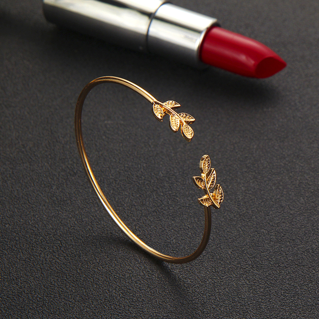 4pcs/Set Fashion Bohemia Leaf Knot Hand Cuff Link Chain Charm Bracelet 4