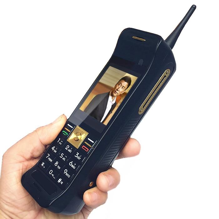 Clássico Estilo Retro tela sensível ao toque celular Com Antena Bom Banco de Potência do Sinal De FM bluetooth push-botão de Telefone