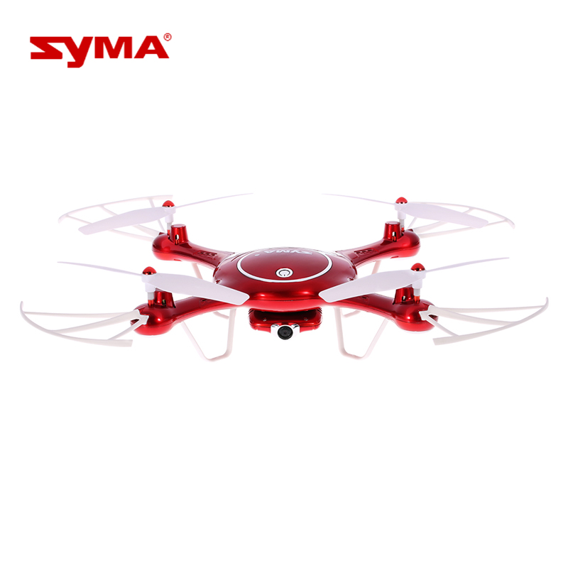 Syma X5UW WiFi UFO FPV Drone with HD Camera 2.4G 6 Axis Gyro RTF RC Headless Quadcopter with Flight Plan APP Control Helicopter