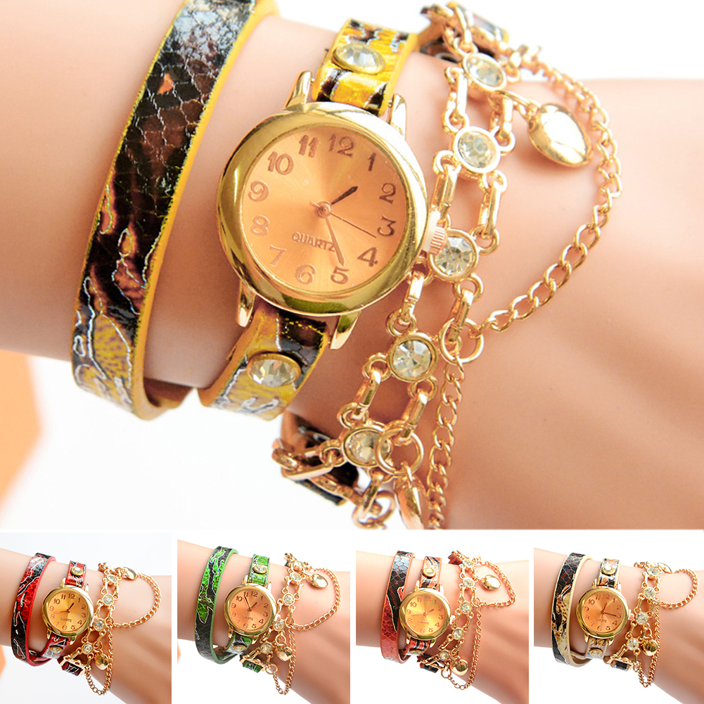Fashion Casual Women watches PU leather strap alloy watches Quartz watches Women's Wristwatches 1