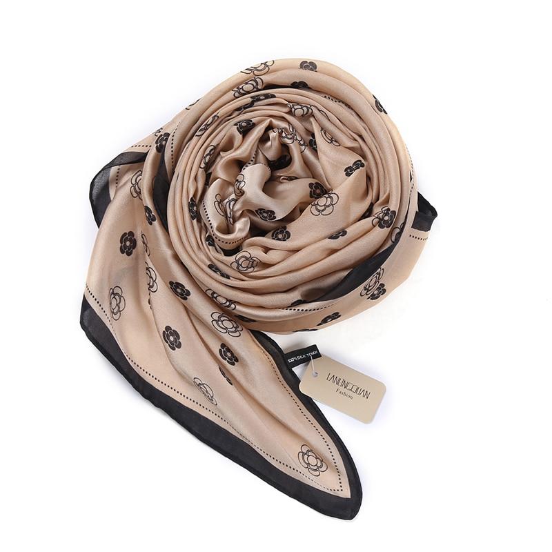 Hot Sale Šátek Luxusní Značka 2018 nový Shawl Soft Echarpe Lady Silk Camellia Hijab Módní Dámské šály Pashmina Foulard Femme