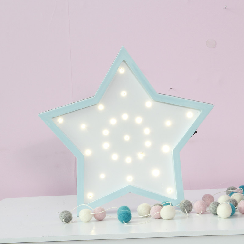 30X29.5X3.5CM LED Wooden Star Hanging Up Night Lamp Lovely Baby Sleep Lighting Children's Day Gifts Bedroom Wall Lamp Home Decor|day lamps|bedroom lamplamp bedroom - title=