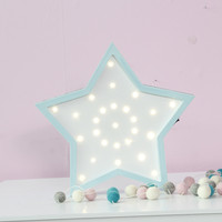 30X29.5X3.5CM LED Wooden Star Hanging Up Night Lamp Lovely Baby Sleep Lighting Children's Day Gifts Bedroom Wall Lamp Home Decor|day lamps|bedroom lamplamp bedroom -