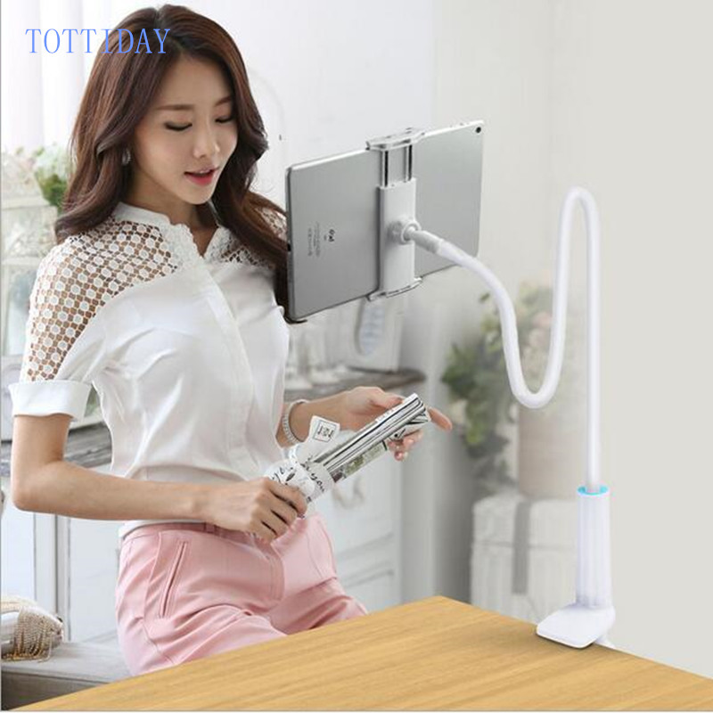 80CM Mobile Phone Holder 360 Rotating Flexible Lazy Holder Table Stand Desk Mount Bracket for Iphone 4-10.5 inch Ipad Tablet PC ...