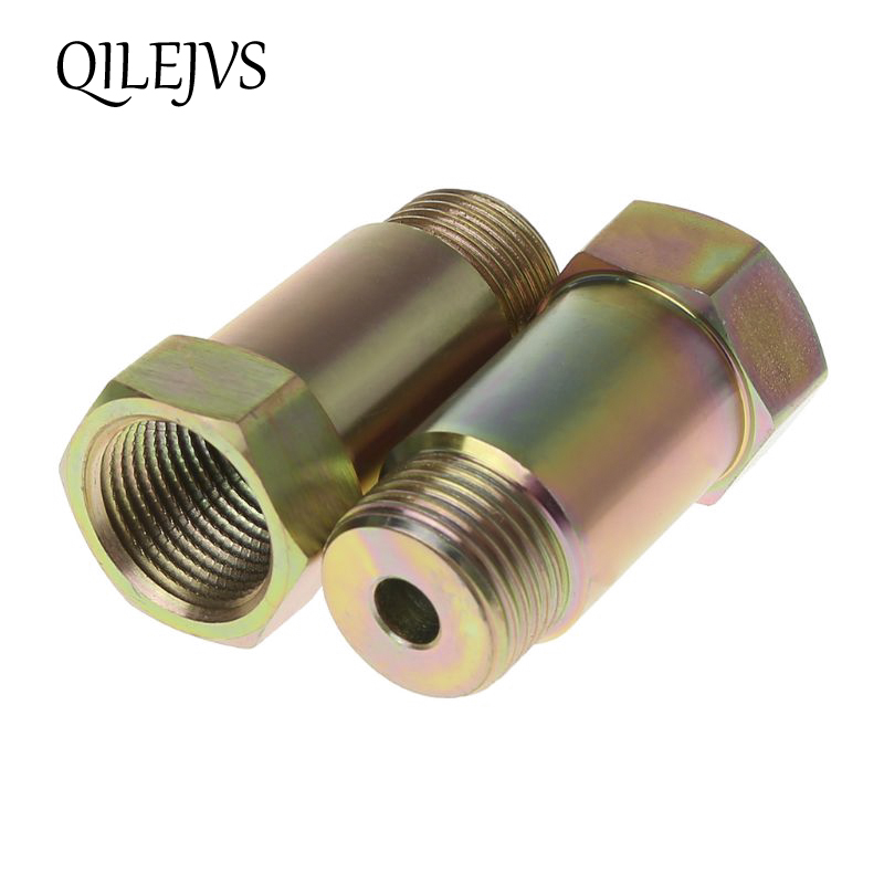 O2 Oxygen Sensor Spacer Adapter Isolator Extender Straight CEL Fix Kit for Exhaust Systems Check Engine Light Eliminator Adapter with M18 x 1.5 Sensor Holes 2Pcs 45mm Length