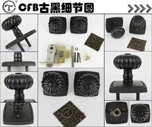 Taiwan world Lian Tai, copper lock, pure copper, spherical lock, all copper indoor bedroom, door lock, bathroom lock, LP 1292