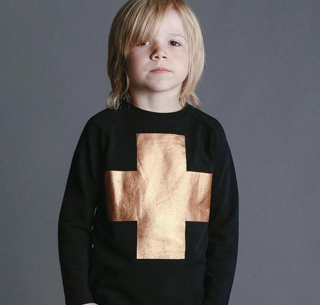 ins* nununu* hot sale 2015 unisex baby kids cotton + print sweatshirts children autumn top clothing 1-5Y free shipping
