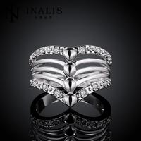 Hot Sale!!925 Silver Ring Fashion Sterling Silver Jewelry,crystal Ring R416