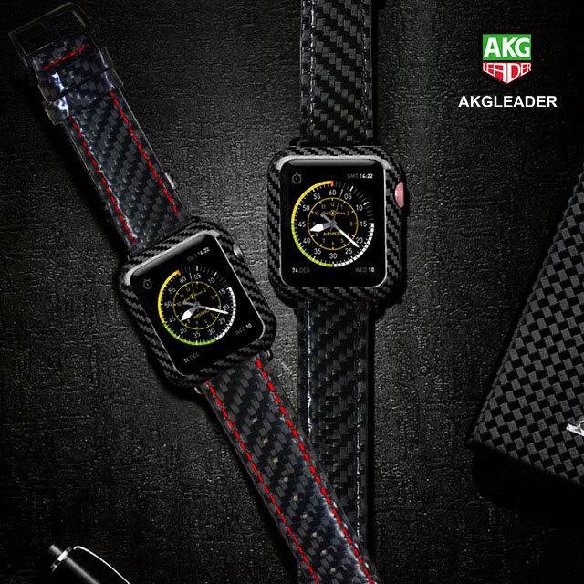 For Apple Watch Series 4 iWatch Band Real Carbon Fiber Watch Straps For Apple Watch Series