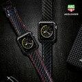 Für Apple Uhr Serie 4 iWatch Band Real Carbon Fiber Uhr Straps Für Apple Uhr Serie 1 2 3 Leahter armband 38 42 40 44mm|Uhrenbänder|   -
