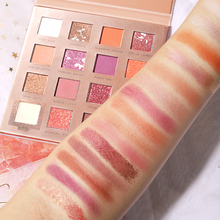 New Glitter Eye Shadow 16 Colors Pigment Palette Waterproof Easy to Wear Shimmer Make up Eyeshadow dropping