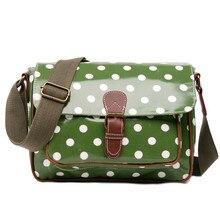 Fashion  women shoulder bag flap fashion colorful messenger bags for  women's crossbody bags dot print oilcloth