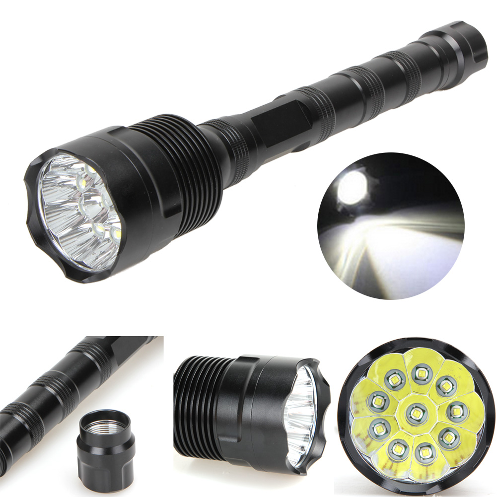 ФОТО Waterproof 25000LM 10*T6 LED Flashlight 5 Mode Super Bright Flashlights Rechargeable Torch Lamp Outdoor Camping Hiking Lights