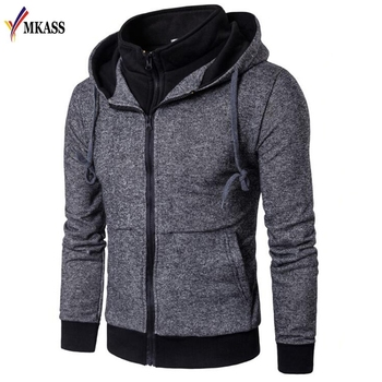 Men Hoodies 2018 Sudaderas Hombre Hip Hop Mens Brand Patchwork Zipper Hoodie Sweatshirt Slim Fit Men Hoody Size 3XL