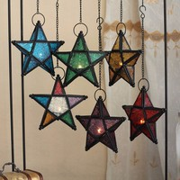 Glass Hanging Star Lantern Tea Light Votive Candle Holder Wedding Party Christmas Holiday Home Garden Decoration