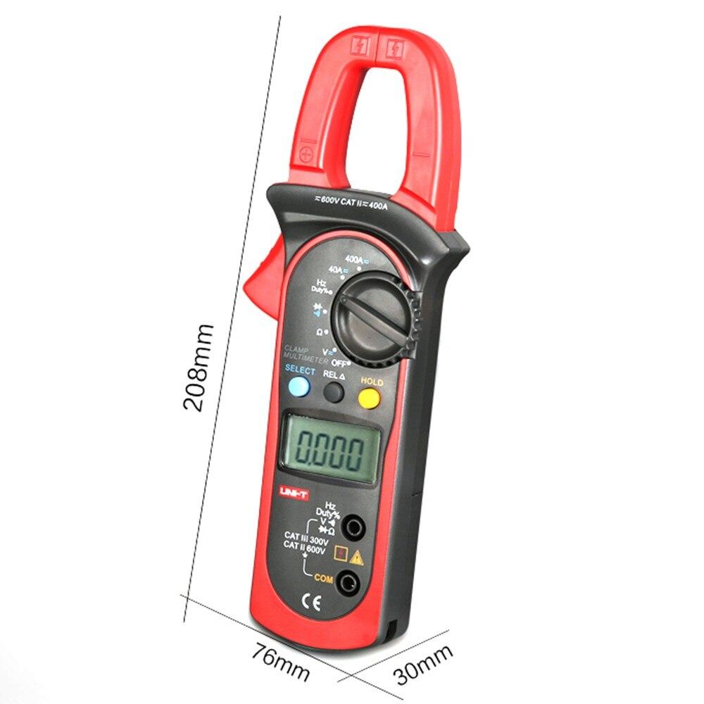 UNI-T UT204A digital clamp meter multimeters auto range temperature AC DC current clamp meter ammeter voltmeter unit 204A