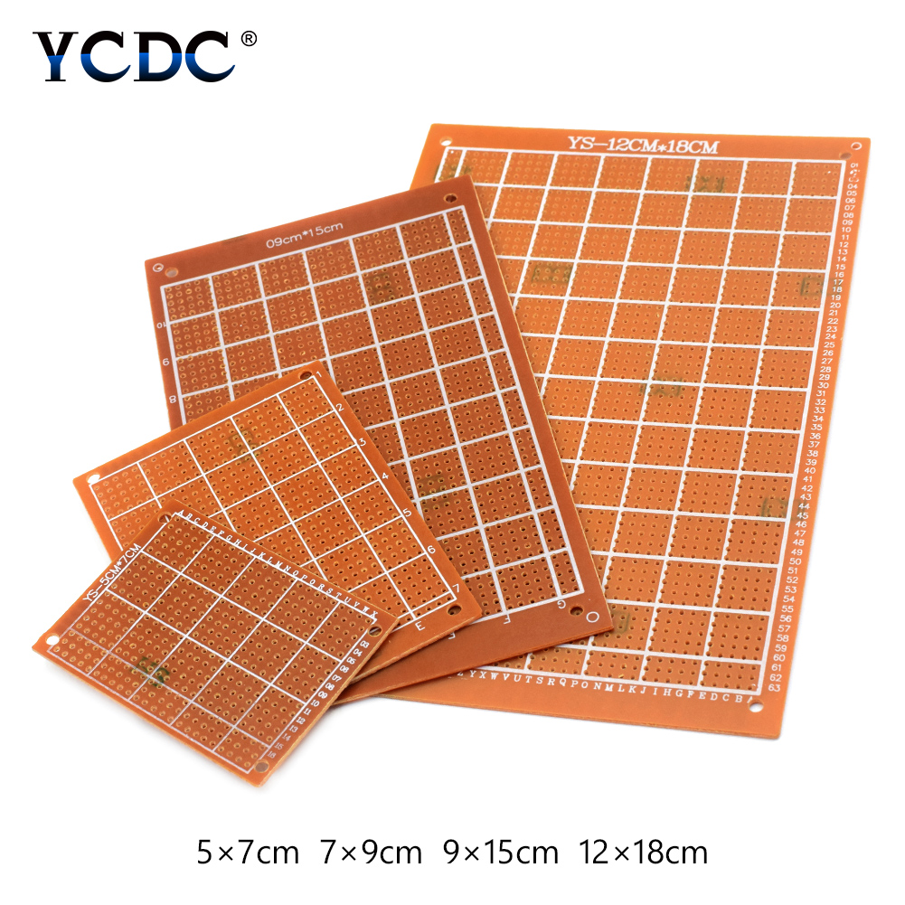 5 Pieces 4 Sizes Electronic Soldering Design Contests Test Single 17pcs Kit Prototyping Pcb Printed Circuit Board Prototype Breadboard Side Copper In Circuits From Consumer