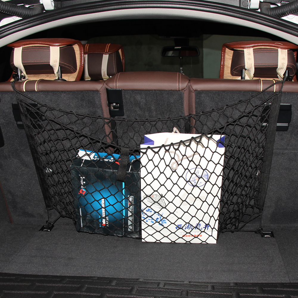 Storage Express Home: Car Boot String Bag Elastic Nylon Car Rear Cargo Trunk