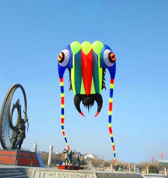 free shipping high quality 32 square meters trilobites soft kite ripstop nylon fabric kite hcxkite factory tadpole outdoor toys цена 2017