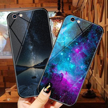 Goterfly For Ipone 7/8 Beautiful Starry sky pattern Tempered glass phone case plus Glass Planet cover