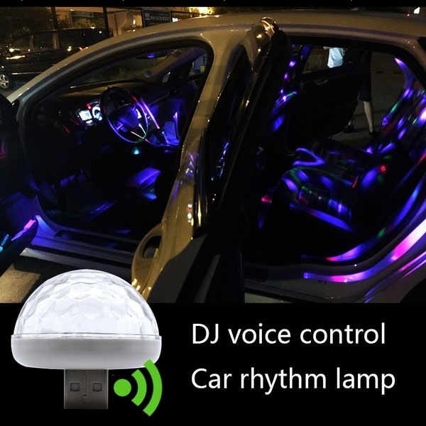 Multi Color USB Led Car Interior Lighting Kit Atmosphere Light Neon Lamps image