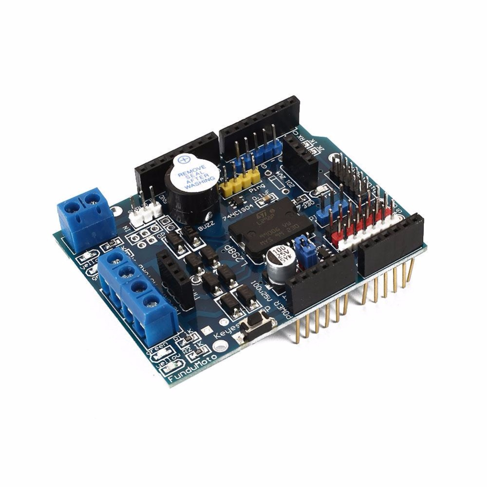 Cewaal New For L298P Motor Drive Shield Extend Expansion Board For Arduino For Mega R3 DIY Development Board Replacement Parts oled shield for espea arduino development board
