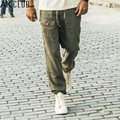AK Marca CLUB de Pantalones Casuales 2016 Cuba libre Holgados Pantalones de Cordón 100% pantalones de lino hombres loose fit navy khaki hombres pantalones 1312001