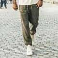 CLUBE AK Marca Calça Casual 2016 Cuba Libre Largas Calças Com Cordão 100% calças de linho homens soltos ajuste marinha khaki dos homens calças 1312001