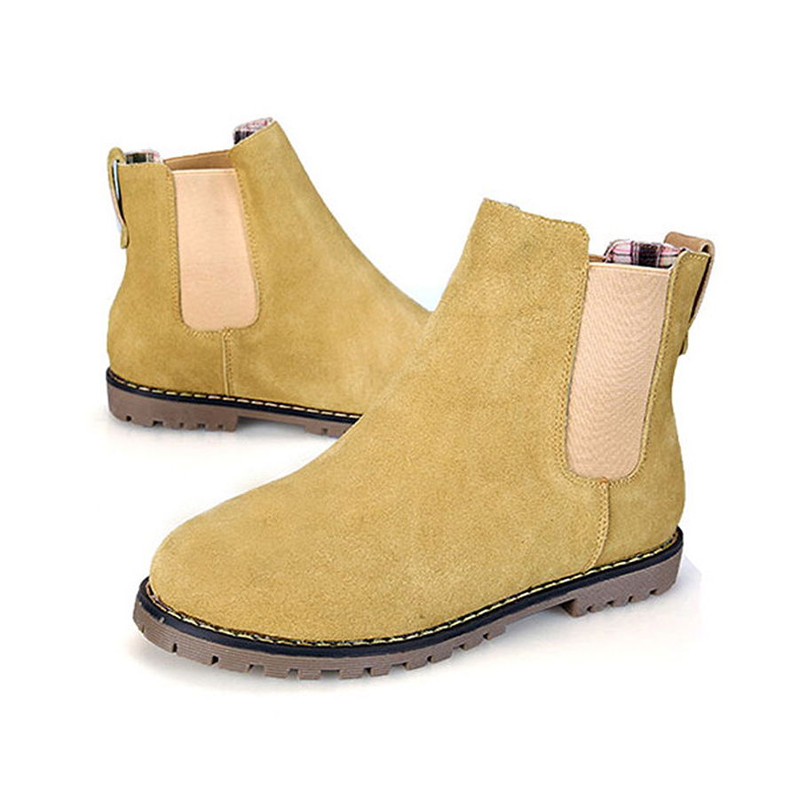 ФОТО Winter 2016 Women's Plus Size Fashion Wild Flat Boots Martin Boots Tendon Slip Soles Leather Vintage Boots Women's Warm Shoes