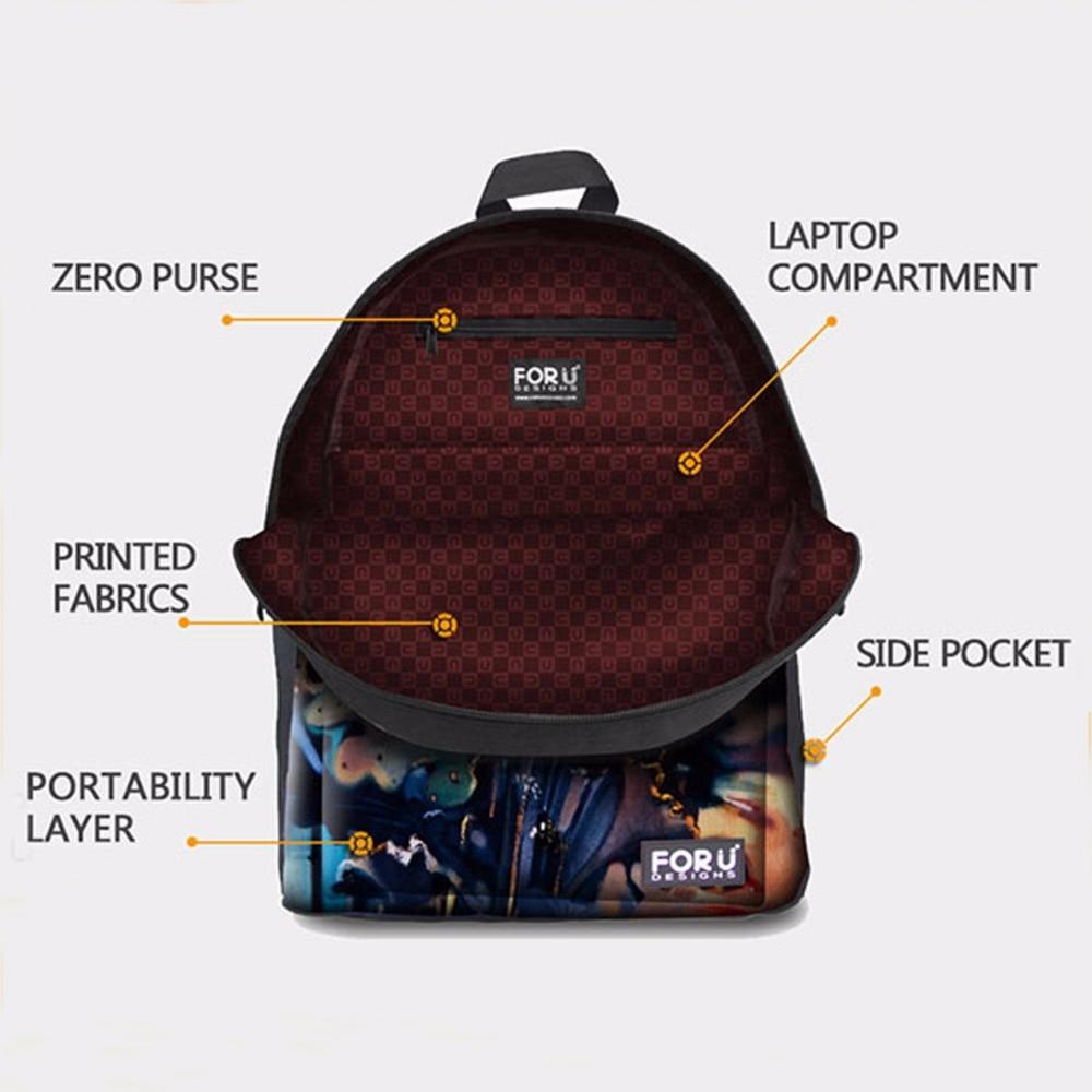 Laptop bags korea - Aliexpress Com Buy Forudesigns Korea Fashion Women Backpacks 3d Tumblr Ice Cream Printing Children Backpacks Cute Canvas Teenager Girls School Bags From