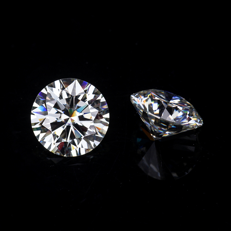 Sales Round Brilliant Cut 9mm IJ Color Lab Created Moissanites For Engagement Rings