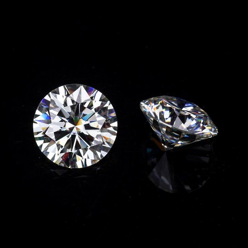 販売ラウンドブリリアントカット 9 ミリメートル IJ 色ラボ作成 Moissanites ためルースストーン婚約指輪  グループ上の ジュエリー & アクセサリー からの ルースダイヤモンド & 宝石 の中 1