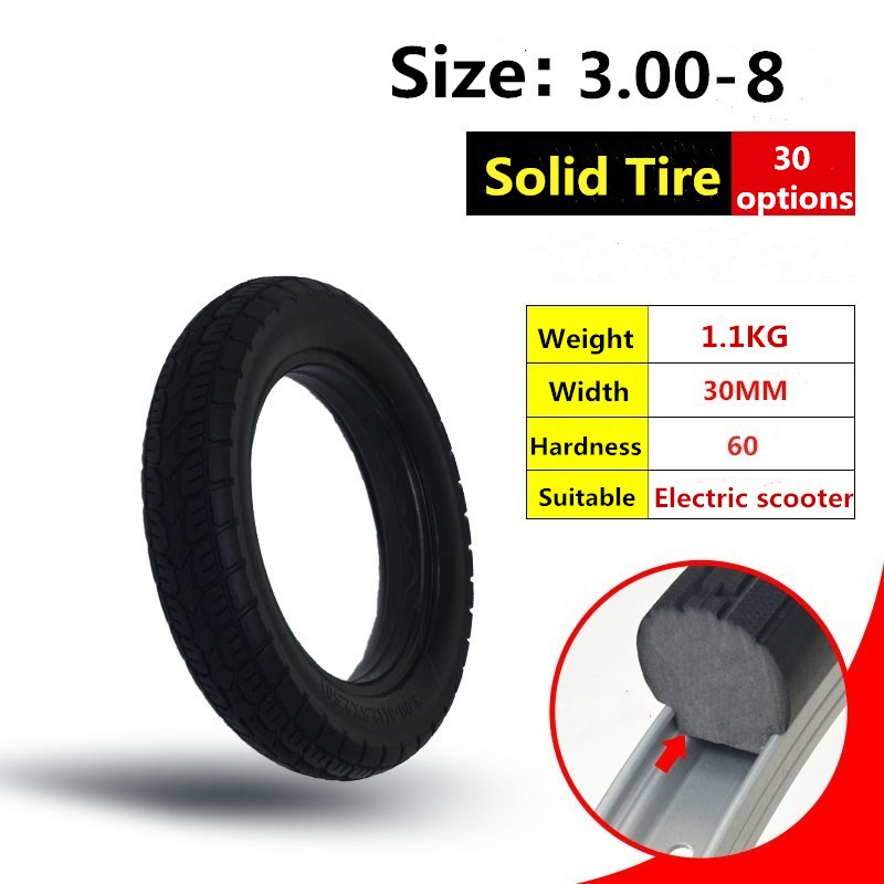 3.00-8 Tire Electric Scooter Solid Tyre Without Inner Tube Tyre and Solid Tire росигрушка пирамида собирайка 9628