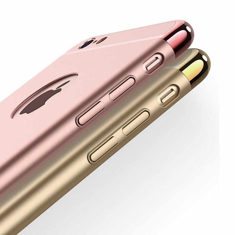 Per Il Caso di Iphone 6 6 S 7 8 Più di X Xs Max Xr di Lusso 3 in 1 Ultra Sottile Duro copertura per Il Iphone 5 5 S Se Rivestito Non Slittamento Opaco Funda