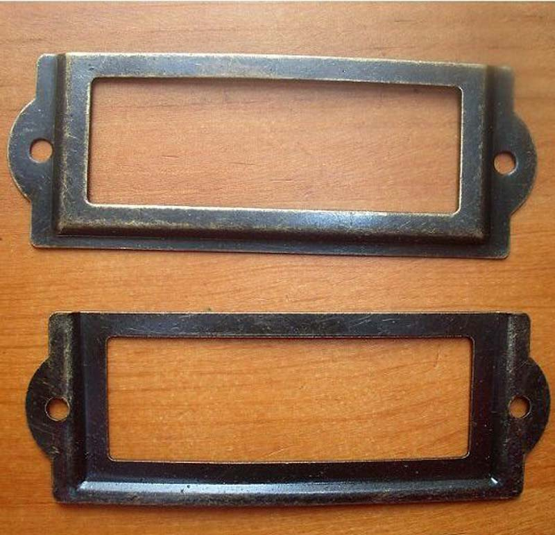 10pcs 83MM x 30mm High quality antique brass color card holder label holders Label Frames Bronze