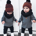 New Arrival Kids Baby Boys Girls Winter Clothes Set Long Sleeve Fashion Stripe Tops+Pants Leggings 2pcs Clothes Outfit Set  2-6Y