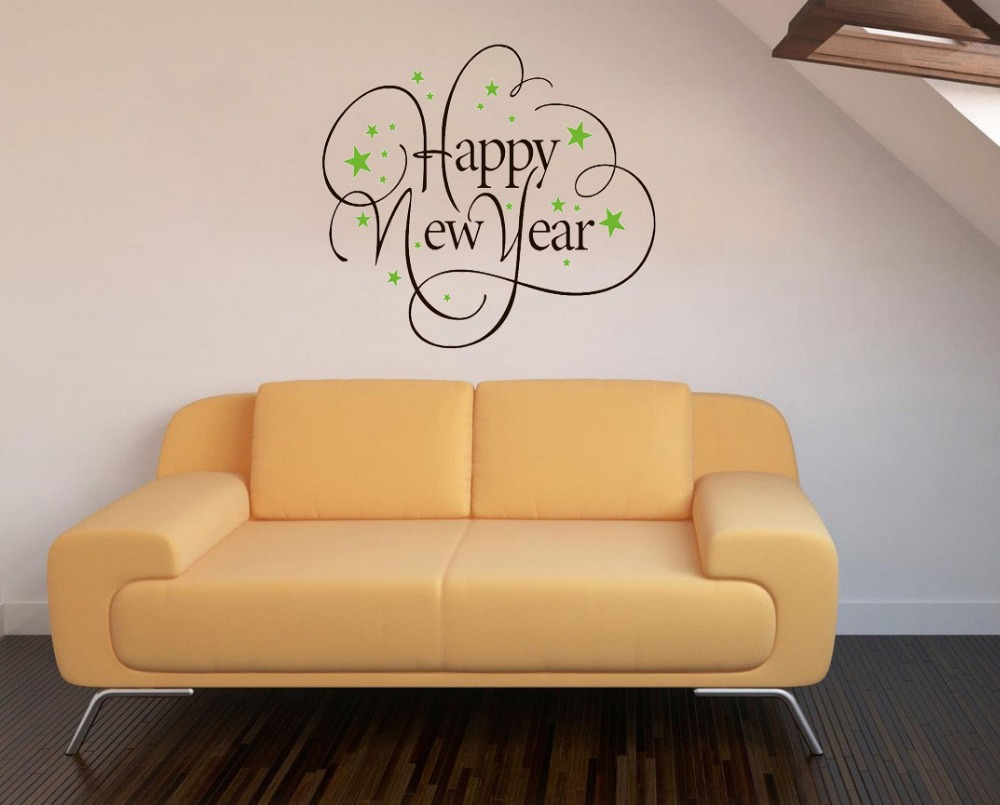Pretty New Year Wall Decorations Pictures Inspiration - The Wall Art ...