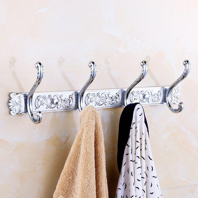 Chrome Bathroom Hook Hanging Clothes Back Door Stainless Steel
