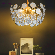 Modern Luxury LOFT LED Pendant Lights Glass Art Nordic Lamp Restaurant American Bedroom Hanging Kitchen Fixture