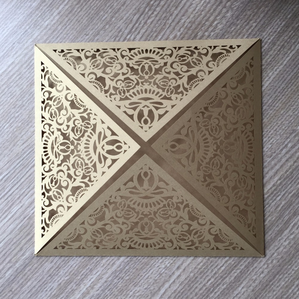 Wedding Invitations Laser Cut Paper: 50pcs Laser Cut Shimmer Paper Wedding Invitation Laser