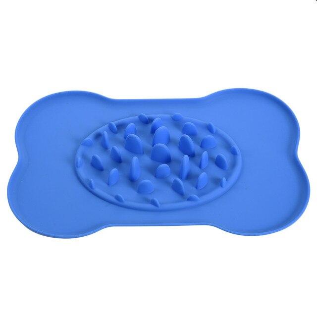 Silicone Durable Anti-choke Pet Bowl Elastic Dog Bowl Feeder Jungle Style Food Bowl