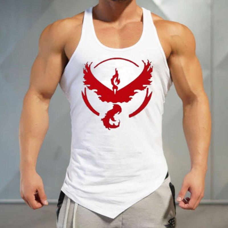 New Style Men Fitness Bodybuilding Pokemon Go Vest Team Valor Mystic Instinct Vest   Tank     Tops   Work Out Streetwear
