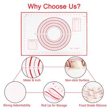 Silicone Baking Mats Sheet Pizza Dough Non-Stick Maker Holder Pastry Bakeware Accessories 2