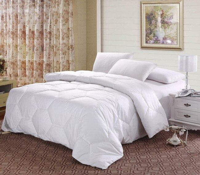 top quality goose down quilt doona comforter blanket conventional uk super king size 350gsm. Black Bedroom Furniture Sets. Home Design Ideas