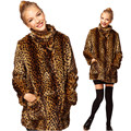The new European winter fur coat lady Leopard Faux Fur Coat imitation raccoon fur mink hair