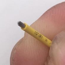 Microblading Needles 눈썹 블레이드 SHADING R18 Pin 영구 화장 용 SPMU 안개 눈썹 문신 바늘